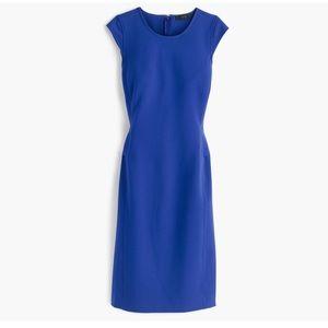 J crew interview dress royal blue sheath stretch